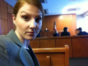 Adri as Lindsay at Court