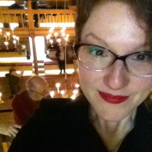 Me at Sam Wanamaker Playhouse, post cry