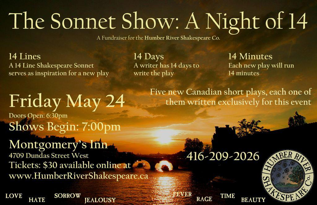 sonnet show Humber River poster
