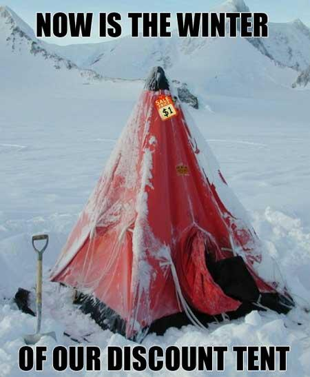 winter of discount tent
