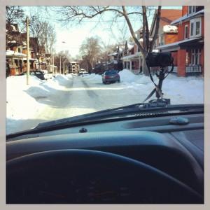 Driving go pro
