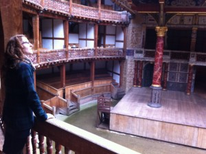 Taking in the wonder that is living history, at The Globe in London England, 2014