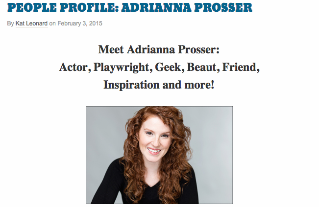 People Profile: Adrianna Prosser's headshot for Kat Leonard