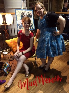 Myself as Joannie and Ann as Peggy from Mad Men at the Beatles Rock TO event
