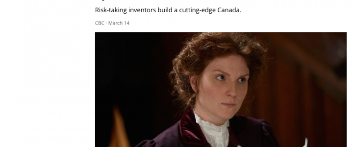 CBC Screenshot of Adrianna as Kit Coleman