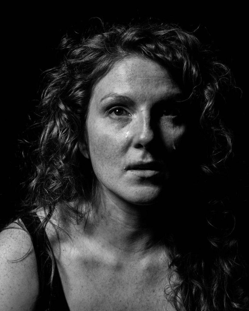black and white photo of Adrianna by Johanna Haughton