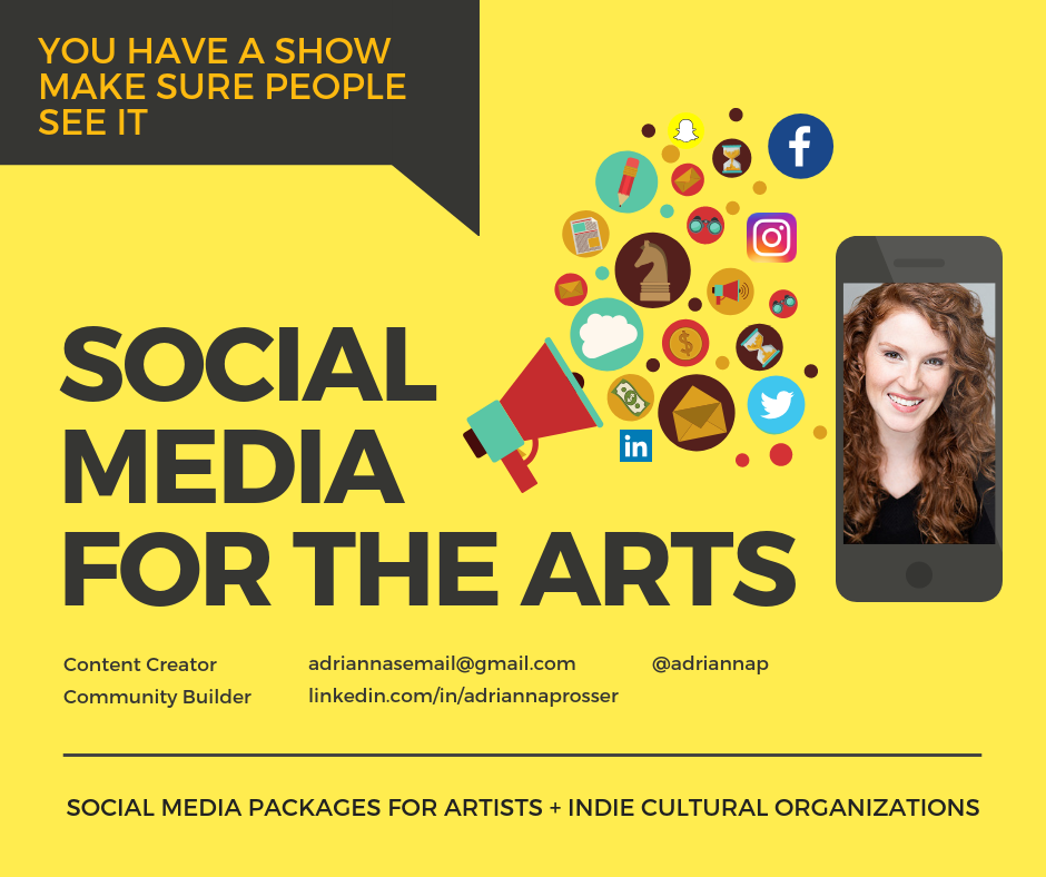 social media packages baner art depicting Adrianna as a social media manager and community builder